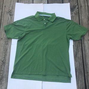 Green/White Striped Nike Golf Polo